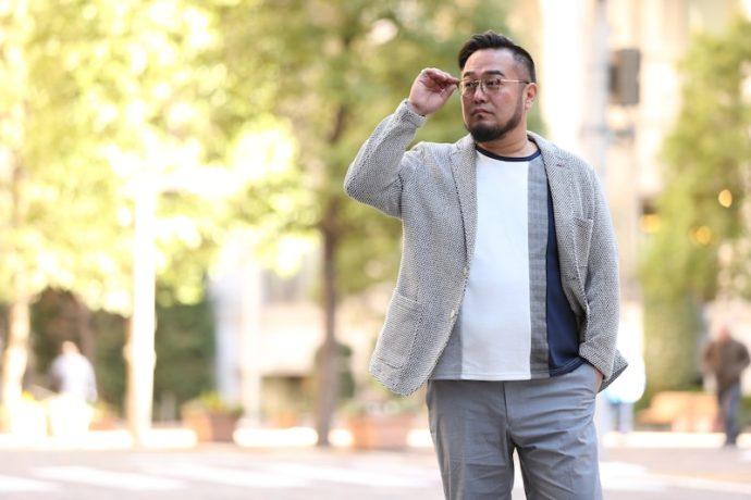 ファッション がっちり 体型 男性