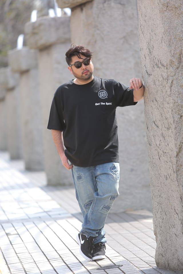 Babeスナップ/ビッグシルエットTシャツのメンズコーデ