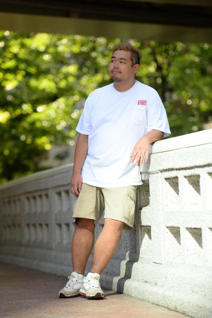 Babeスナップ-ストリートスタイルのビッグシルエットTシャツ