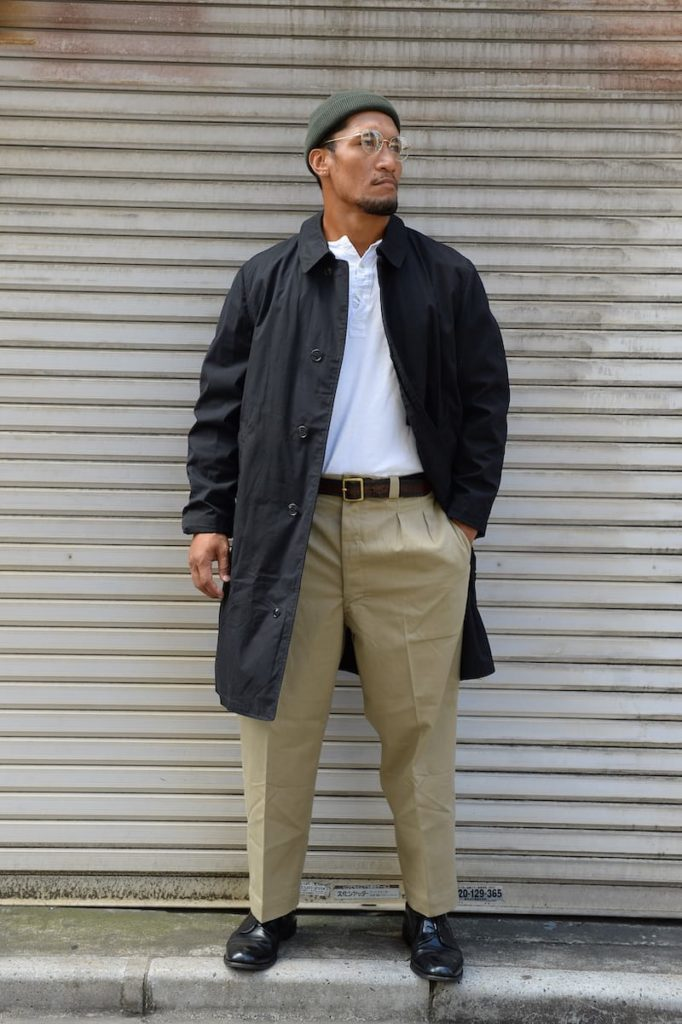 筋肉質の日本人ファッション【秋】
